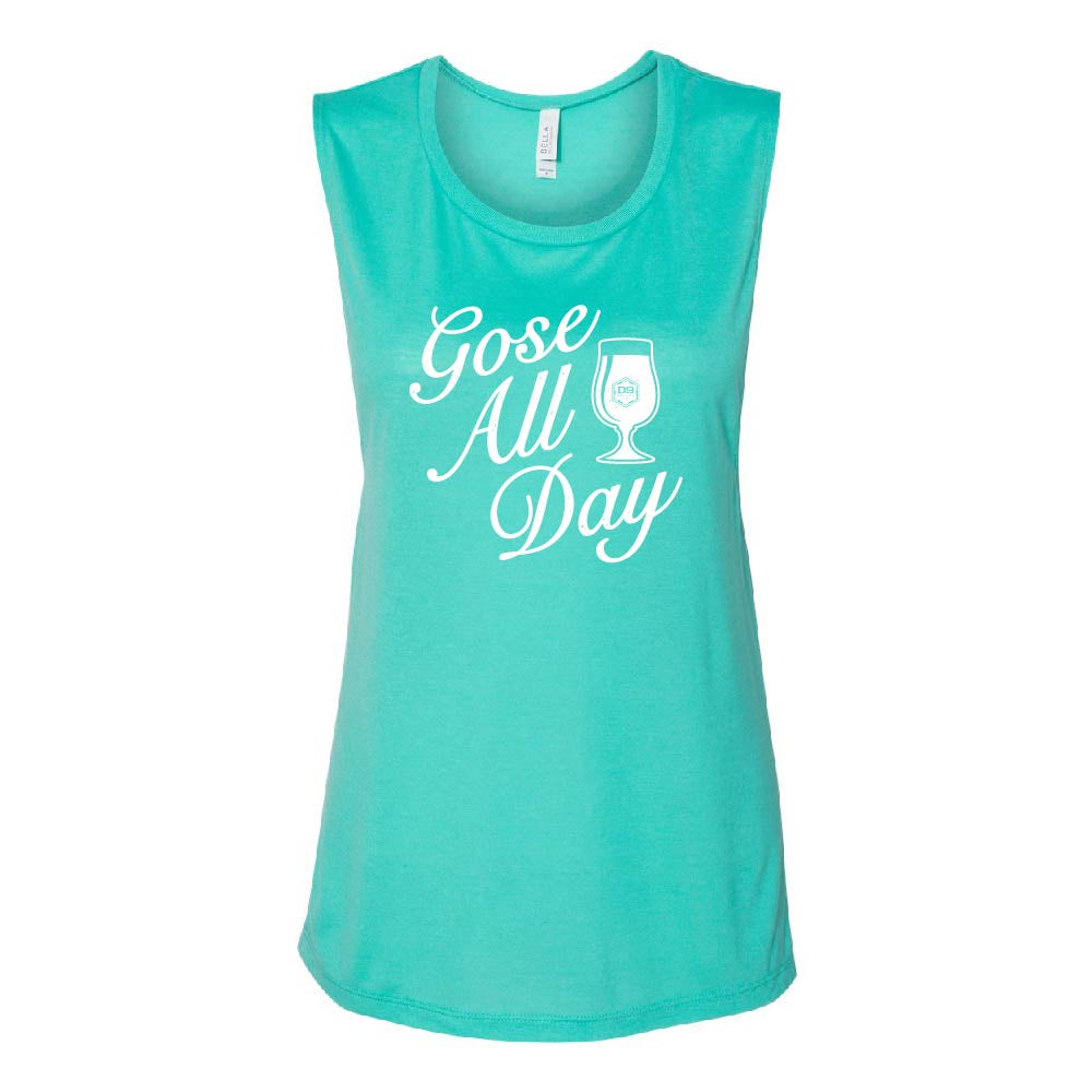 "D9 Brewing | ""Gose All Day"" Women's Teal Tank Top"