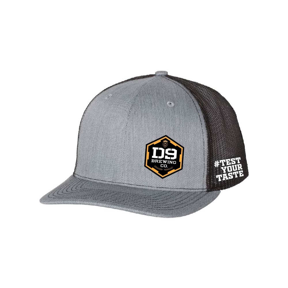 "D9 Brewing | ""Logo"" Heather Grey Snapback"