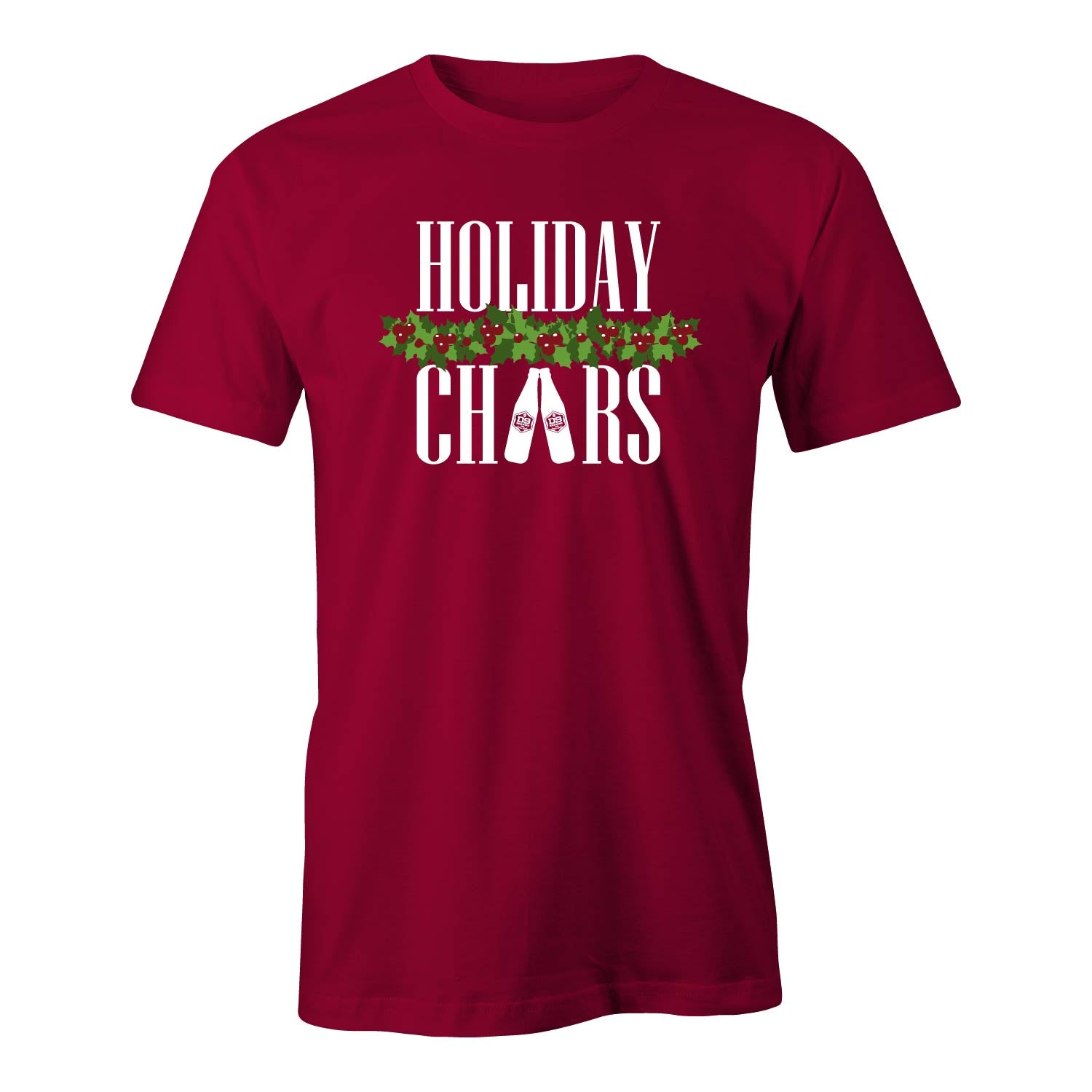 "D9 Brewing | ""Holiday Cheers"" Unisex Cardinal Tee"