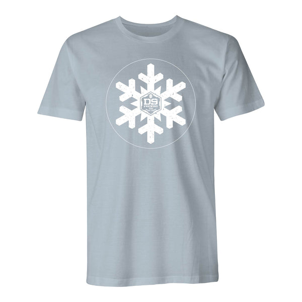 "D9 Brewing | ""Snowflake"" Unisex Light Blue Tee"