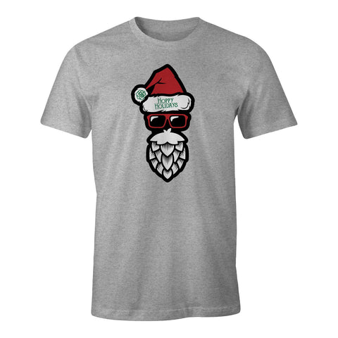 "D9 Brewing | ""Hoppy Holidays"" Unisex Heather Grey Tee"