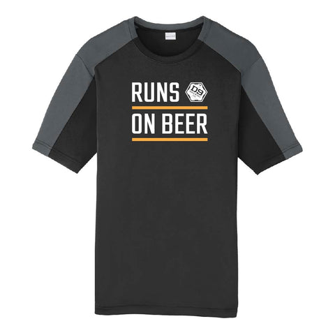"D9 Brewing | ""Runs On Beer"" Unisex Black Tee"