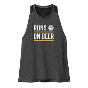"D9 Brewing | ""Runs On Beer"" Women's Black Tank Top"