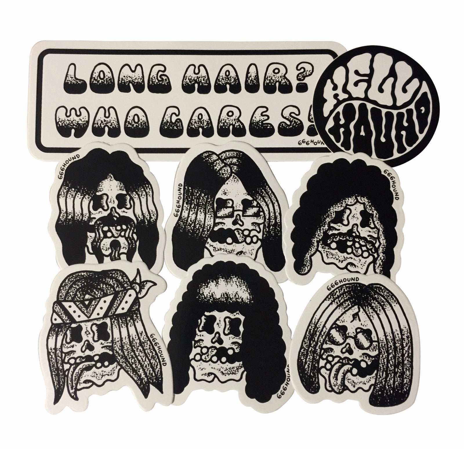 "Sticker Pack ""Long Hair Who Cares"" - Hipnosis"