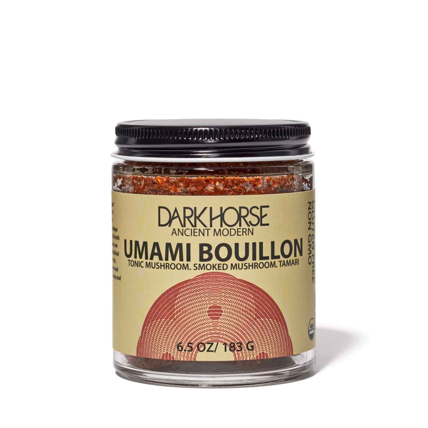 6.5oz jar of Umami Bouillon from Dark Horse
