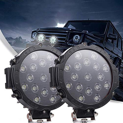 51W LED SPOT LIGHT - BLACK (IP67)
