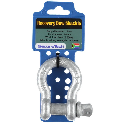 Securetech 2000kg Rated Alloy Recovery Bow Shackle