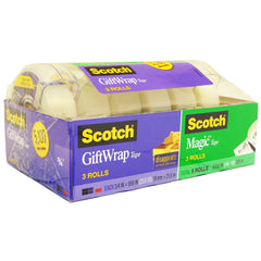 Scotch 3 Rolls Magic Tape & 3 Rolls Gift Wrap Tape - FS GIFTS