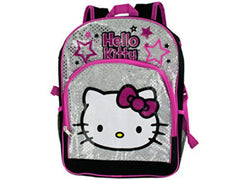Black & Pink Hello Kitty Stars Backpack - FS GIFTS