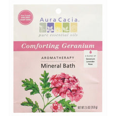 Aura Cacia Comforting Geranium Aromatherapy Mineral Bath 2.5 Oz - FS GIFTS
