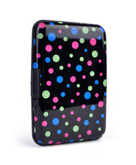 Card Guard Aluminum Compact Card Holder -Black Dots - FS GIFTS