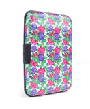 Card Guard Aluminum Compact Card Holder - Fuchsia Flower