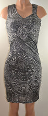 Kenneth Cole New York Modern Prism Sleevele Drapey Dress, X-Small - FS GIFTS