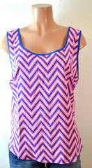 Women's Sleeveless Chevron print tank Plus Size Top By Mine Too - FS GIFTS
