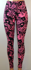 E&K All Over Paisley Print Stretch Leggings, - FS GIFTS