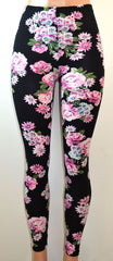 E&K All Over Floral Print Stretch Leggings - FS GIFTS