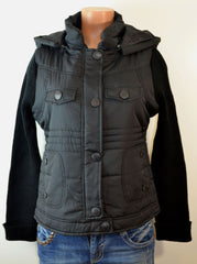 dollhouse:Women's Zip-Front With/Snap Placket & zip Off Hood Jacket, - FS GIFTS