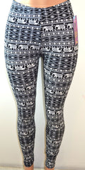 Shosho Womens Elephant Print Leggings