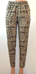 Allison Buittney All Over Tribal Inspired Print Peg Leg Harem Pants - FS GIFTS