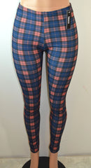 Baslco All Over Plaid Print High Waist Leggings - FS GIFTS