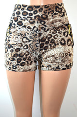Soho Girls Thick Waistband Cheetah Print Shorts - FS GIFTS