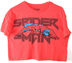 Marvel Women Spiderman Crop  Tee - FS GIFTS