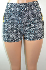 Soho Girils  Thick Waistband Geometric Printed Shorts - FS GIFTS