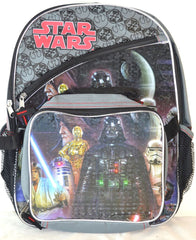 Licensed Start Wars Backpack & Detachable Lunch Tote - FS GIFTS
