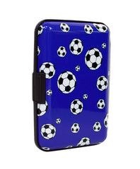Card Guard Aluminum Compact Card Holder - Soccer Ball - FS GIFTS