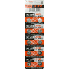 Maxell Batteries LR1130 (189, LR54, AG10) Alkaline Button Size Battery - FS GIFTS