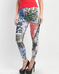 Topia Multi-Color Magazine Print Leggings - FS GIFTS