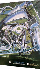 "Harley Davidson Poster -- ""Reflections on Canvas"" - FS GIFTS"