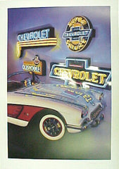 "Chevrolet Poster -- ""Neon Classic"" - FS GIFTS"