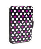Card Guard Aluminum Compact Card Holder -Pink Dots