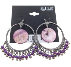 A.N.A Hoop Earrings - FS GIFTS