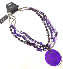 A.N.A Purple Shell Necklace - FS GIFTS