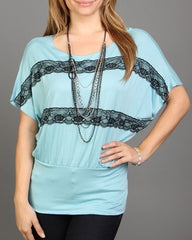 Women's Tops With Lace Detail *Necklace Included* - FS GIFTS