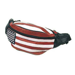 Leather Hip Pack, USA Flag Bag - FS GIFTS