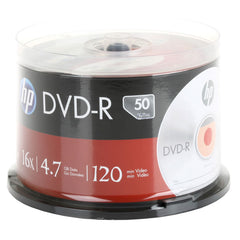 HP Branded 16X DVD-R Media 50 Pack in Cake Box (DM16050CB) - FS GIFTS