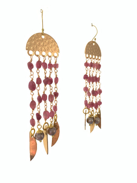 Swing Earrings in Tourmaline.