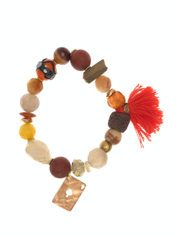 Gypsy bracelet earth colours