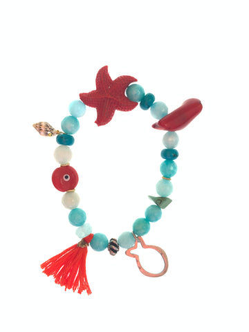 Gypsy bracelet with starfish