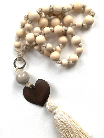 Wooden worry beads for home decor