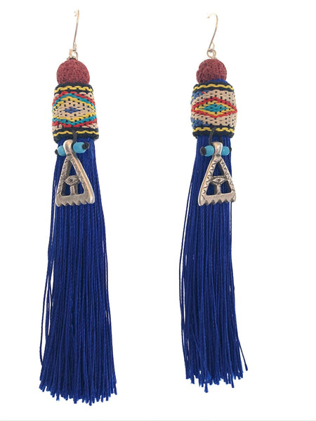 Long heritage earrings