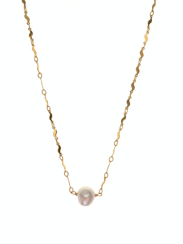 Round white single pearl