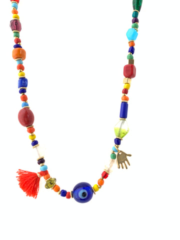 Candylicious colorful necklace glass beads evil eye unique jewelry inamullumani by LUMA Qusus Awad