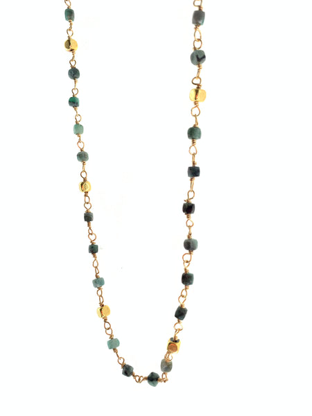 Mayda emerald necklace