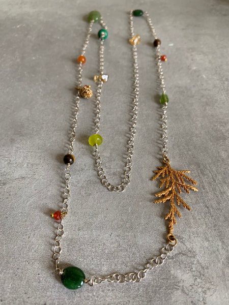 Cedar leaf necklace