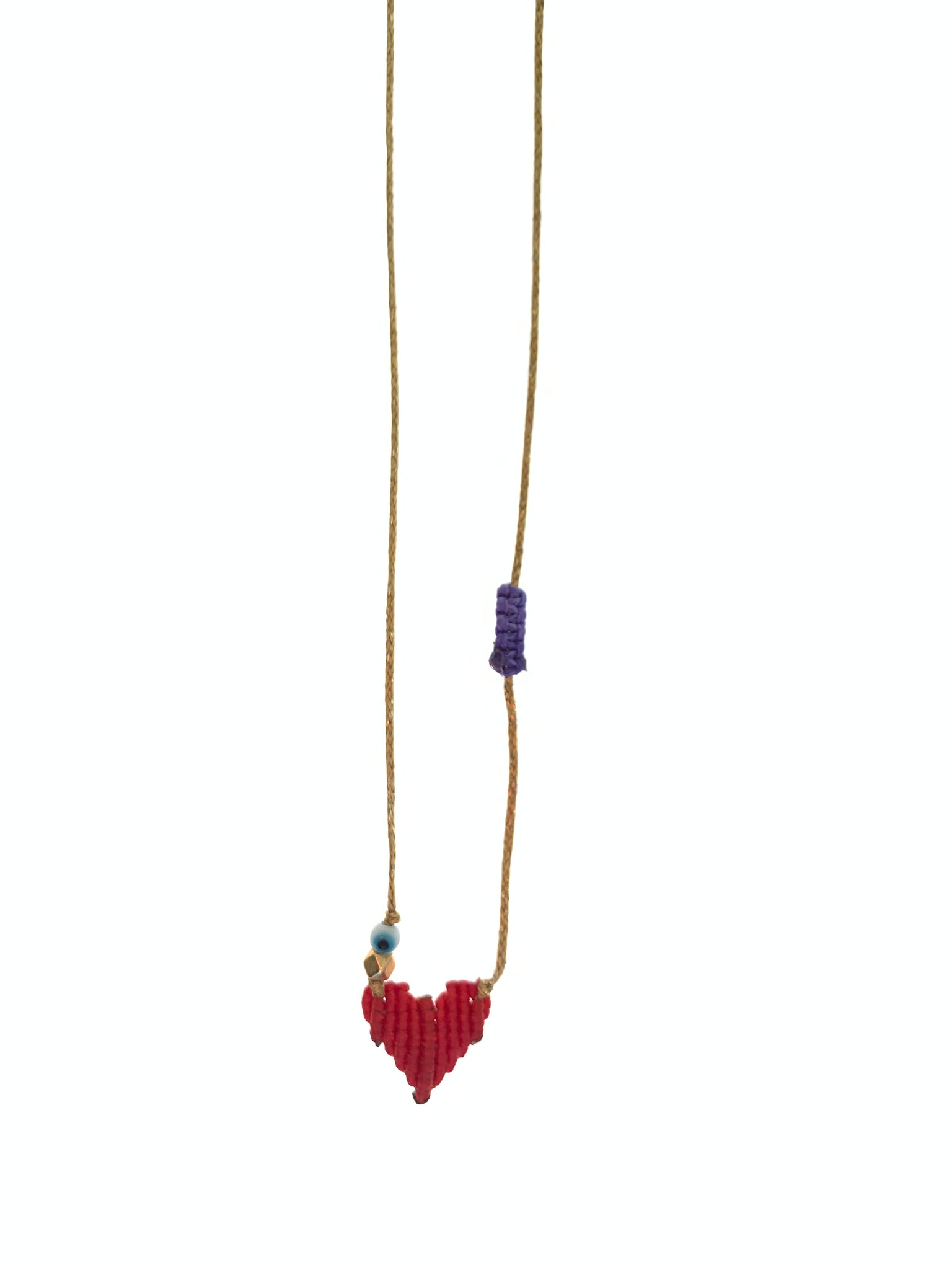 Red heart on adjustable necklace selling for a cause