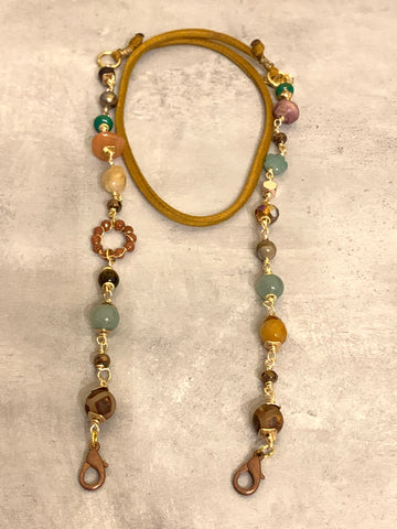 Gemstone mask chain